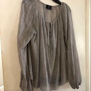 L'AGENCE gray drawstring blouse ⭐️